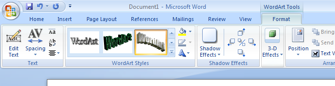 To Resize A Word Art Object Click On The Image Select It And Then Drag One Of Round Tabs That Will Appear Around